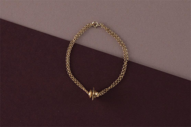 Bracciale in bronzo bagnato oro giallo