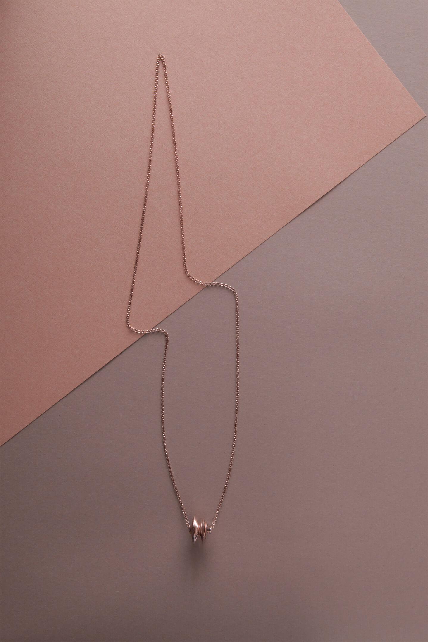 Collana in bronzo bagnata oro rosa